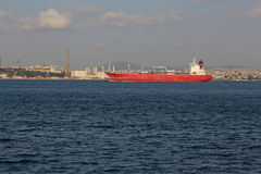 Bosphorus Tanker Royalty Free Stock Photos