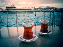 Bosphorus-Tee Stockfoto