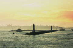 Bosphorus Tour Istambul royalty free stock photos