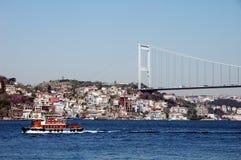 Bosphorus und Istanbul die Türkei Stockbild