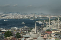 Bosphorus. View of the Golden Horn Royalty Free Stock Images