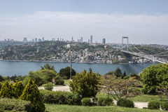 Bosphorus view from Otagtepe in Istanbul Royalty Free Stock Photo