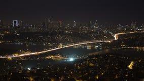 Bosphorusbrug, (gezoem) Istanboel stock footage