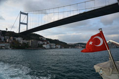 Bosphorusbrug, Istanboel Royalty-vrije Stock Fotografie