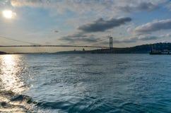 Bosphorusbrug, Istanboel Stock Foto