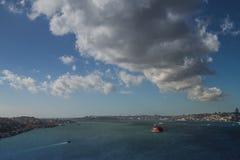 Bosphorusbrug, Istanboel Bosphorus stock fotografie