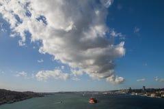 Bosphorusbrug, Istanboel Bosphorus stock afbeeldingen