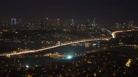 Bosphorusbrug (pan), Istanboel stock videobeelden