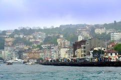 Bosphorusdijk Istanboel Royalty-vrije Stock Afbeeldingen