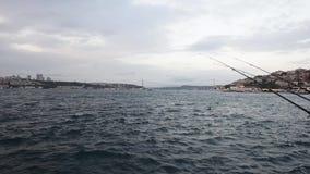 Bosphorusmening van Istanboel stock footage