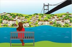 Bosporus royalty illustrazione gratis