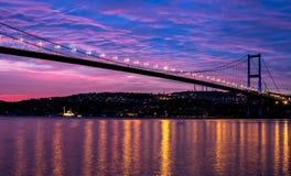 Bosporus-Brücke lizenzfreie stockfotos