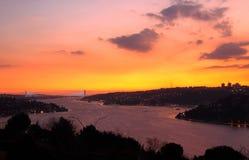 Bosporus-Brücke, Istanbul Stockfotografie