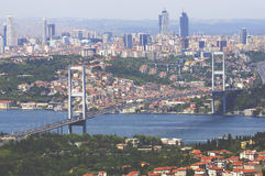 Bosporus-Brücke von Istanbul Stockfotografie