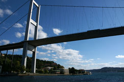Bosporus bridge. In Istanbul, Turkey royalty free stock image