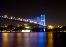 Bosporus Bridge. At night, Istanbul Stock Images