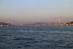 Bosporus bridge between Europe and Asia, Istanbul Stock Images