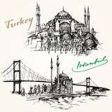 Bosporus Bridge. Istanbul, Turkey. Stock Image
