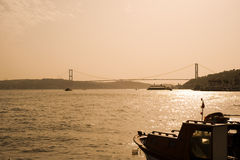 Bosporus Bridge Istanbul, Turkey Royalty Free Stock Photos