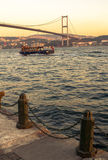 The Bosporus Bridge, Istanbul. Royalty Free Stock Photography