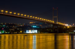 Bosporus bridge by night Stock Images