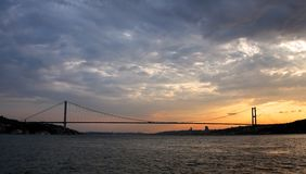 Bosporus bridge at Sunset Royalty Free Stock Photo