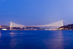 Bosporus bridges, Istanbul, Turkey royalty free stock photos