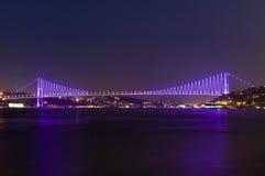 Bosporus bridges, Istanbul, Turkey Royalty Free Stock Image