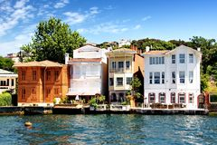 Bosporus Houses Royalty Free Stock Photos