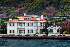 Bosporus Houses in Istanbul Stock Photo