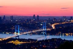 Bosporus, Istambul Foto de Stock Royalty Free