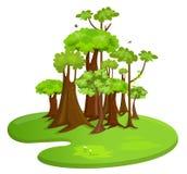Bosque stock de ilustración