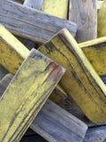 Bosque apilado del rectángulo con amarillo Fotografía de archivo