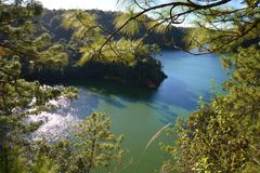Bosque Azul湖在恰帕斯州,墨西哥 免版税库存图片