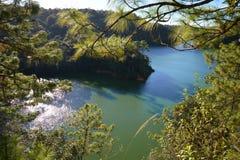 Bosque Azul λίμνη σε Chiapas, Μεξικό Στοκ εικόνα με δικαίωμα ελεύθερης χρήσης