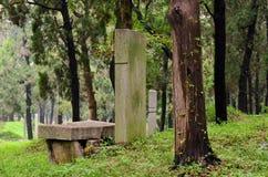 Bosque confuciano, provincia de Qufu, Shandong, China Fotos de archivo