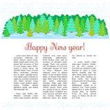 Bosque congelado libre illustration
