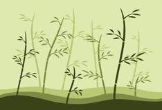 Bosque de bambú stock de ilustración