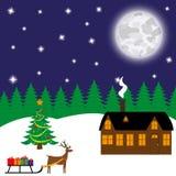 Bosque de hadas y ciervos del ` s del Año Nuevo libre illustration