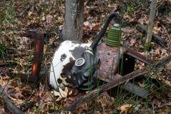 Bosque de la careta antigás Fotos de archivo libres de regalías