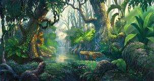 Bosque de la fantasía stock de ilustración