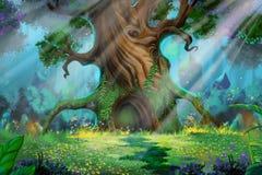Bosque de la mañana libre illustration