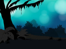 Bosque de la silueta Foto de archivo libre de regalías