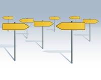 Bosque de las señales de tráfico ilustración del vector
