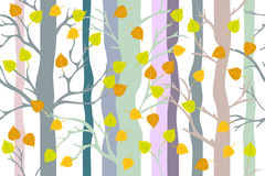 Bosque de oro del otoño libre illustration