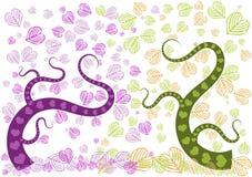 Bosque del amor púrpura y verde Imagen de archivo