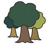 Bosque del arte pop ilustración del vector