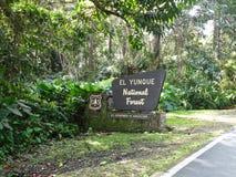 Bosque del Estado del EL Yunque Fotos de archivo libres de regalías