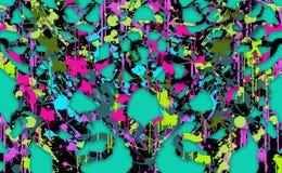 Bosque del fondo de colores Imágenes de archivo libres de regalías