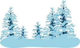 Bosque del invierno stock de ilustración